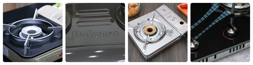 chọn bếp gas theo chất liệu mặt bếp