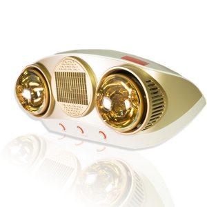 đèn sưởi nhà tắm 2 bóng braun kohn ku02pg