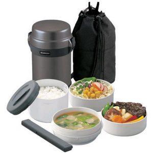 hộp cơm giữ nhiệt zojirushi zocm-sl-jaf14-hg 1.3 lít