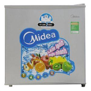 tủ lạnh mini midea hs-65sn xám bạc 45 lít