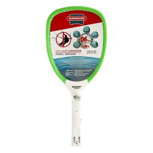 vợt bắt muỗi sunhouse she e350g – xanh