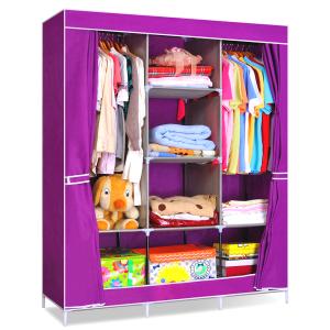 tủ vải cao cấp đựng quần áo 3 buồng 8 ngăn giá rẻ