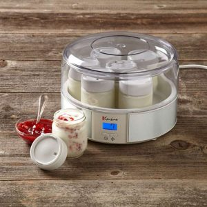 kiểm tra chất liệu cốc và máy sữa chua