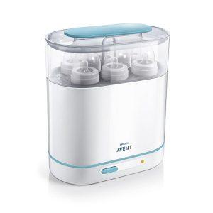 máy tiệt trùng bình sữa cao cấp philips avent 3 in 1