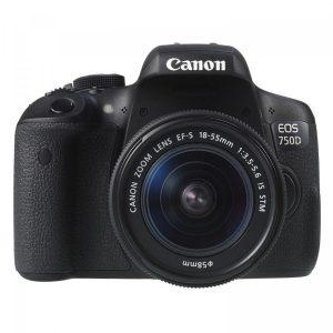 máy ảnh du lịch canon 750d + lens 18-55 is stm