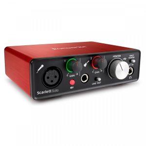 sound card thu âm focusrite scarlett solo gen 2